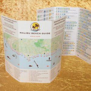 50 Stück - STRAND FÜHRER MALIBU - Englisch Version