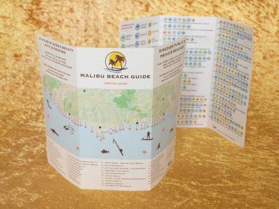500 Stück - STRAND FÜHRER MALIBU - Englisch Version